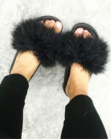 Amazon finds add a dramatic pop to any outfit with these fab fur slides http://liketk.it/3fWQ5 #liketkit @liketoknow.it #LTKshoecrush #LTKunder50 #LTKswim