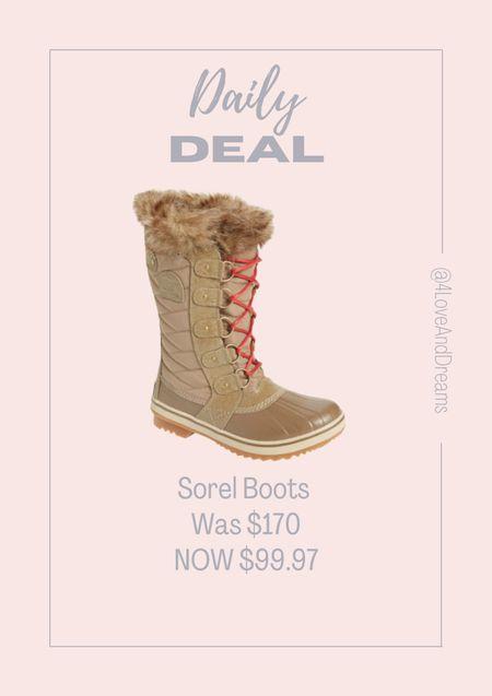 Sorel boots. Winter boots. Sale. Daily deals   #LTKshoecrush #LTKHoliday #LTKsalealert