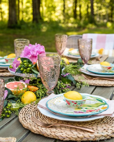 Let's brunch! Beautiful and affordable dishes for outdoor dining. Table setting ideas. http://liketk.it/3fwKT #liketkit @liketoknow.it #LTKhome #LTKunder50