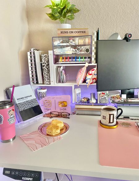 Desk set up! Biscuits & coffee! Ready to switch it up for fall already!!   #LTKhome #LTKunder50 #LTKSeasonal