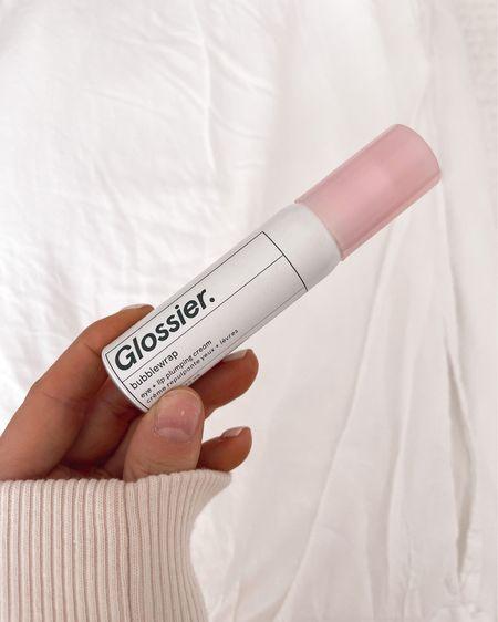 Glossier Bubblewrap - loving this eye cream for under makeup! Lightweight but still really hydrating! Skincare, makeup prep, Glossier http://liketk.it/3iJHL #liketkit #LTKbeauty #LTKunder50 @liketoknow.it