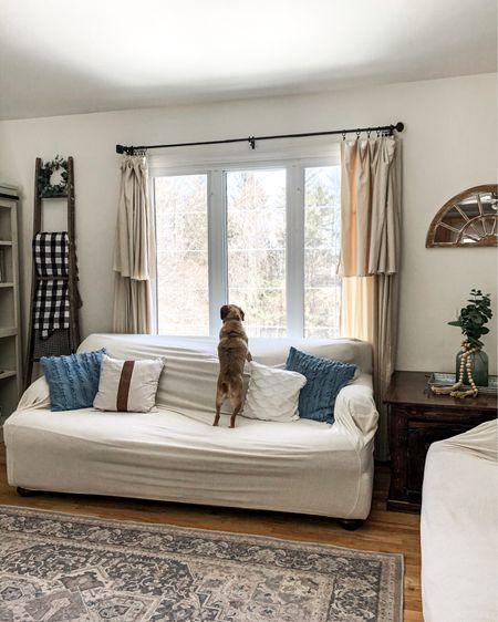 Cozy neutral farmhouse living room    http://liketk.it/39NGT #liketkit   @liketoknow.it #StayHomeWithLTK #LTKhome #LTKunder100