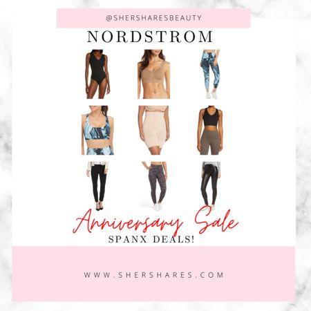 Nordstrom Anniversary Sale! Deals on spanx! Leggings, faux leather, biker shorts, sports bras and body suits   #LTKcurves #LTKsalealert #LTKfit