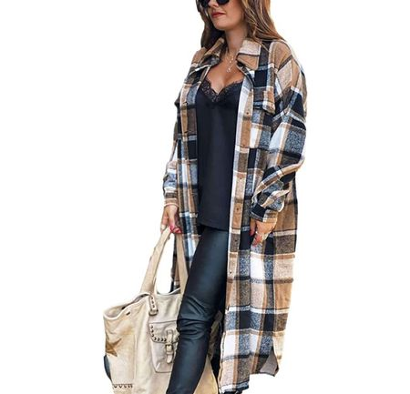 Click here to grab this long plaid shacket!  #LTKunder100 #LTKunder50