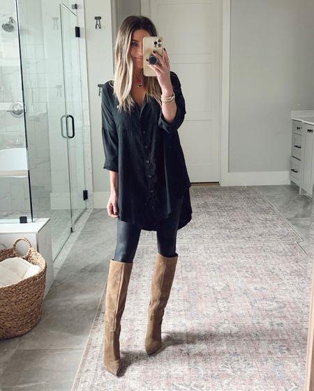 Size xs in this Amazon tunic!🖤    #LTKstyletip #LTKunder50 #LTKworkwear