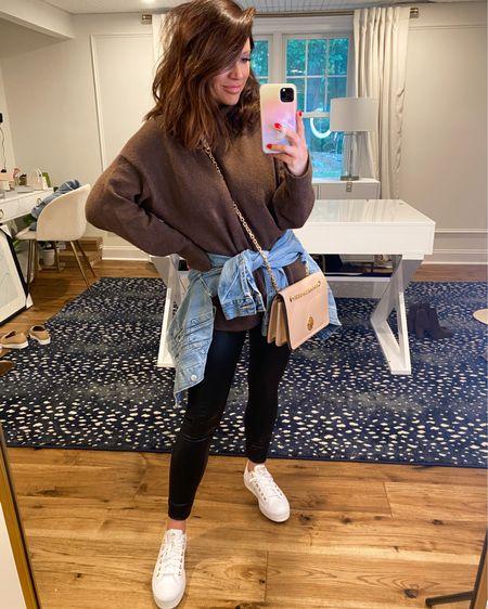 @liketoknow.it http://liketk.it/3jVfB #liketkit #LTKsalealert #LTKshoecrush #LTKstyletip  Sweater (M) Leggings (M) Shoes (size down .5 or even 1 whole size down) Nsale