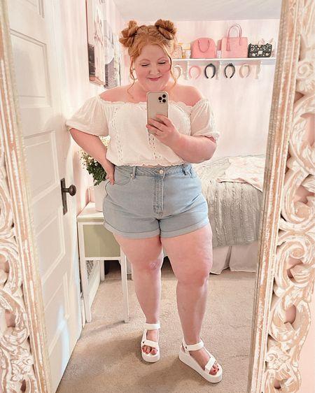 Shop rue21 for plus size summer tops and denim shorts.🤍💕Take 15% OFF with code WONDER15!  http://liketk.it/3hhhf #liketkit @liketoknow.it #LTKcurves #LTKunder50 #LTKsalealert