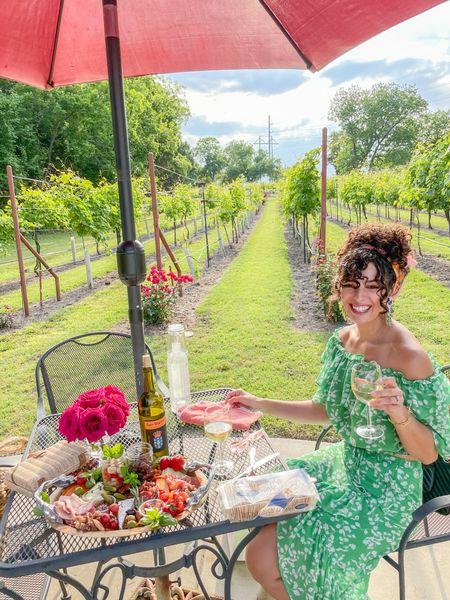 Green two piece set shein outfit green floral skirts   #LTKunder100 #LTKstyletip #LTKunder50