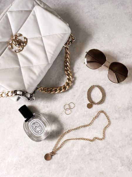 Weekend accessories, designer bag, beaded bracelets, fragrances, necklaces, 14k gold filled jewelry, StylinByAylin   #LTKunder100 #LTKstyletip #LTKGiftGuide