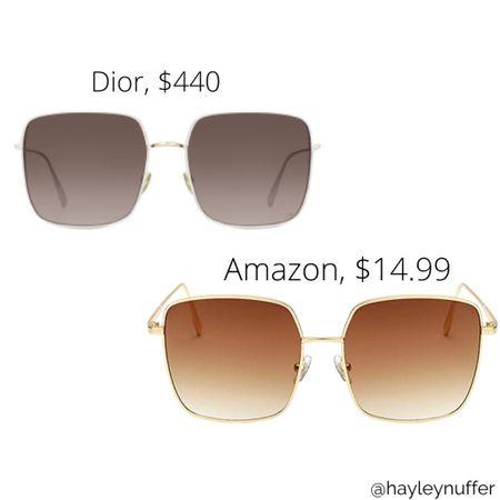 Door sunglasses vs Amazon fashion dupe look for less http://liketk.it/3e4WG #liketkit @liketoknow.it