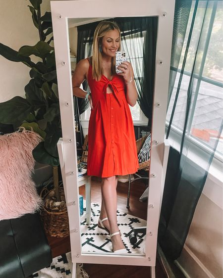 $30 prime find for the Fourth of July! Dress is TTS and comes in so many colors! @liketoknow.it #liketkit http://liketk.it/3ixwI