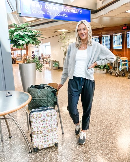 The most comfy travel outfit from CALIA by Carrie Underwood line. Everything fits true to size—I'm wearing a small in the tee, joggers and jacket. Both jacket and joggers have pockets and the material is lightweight and so soft! The jacket feels a little more structured than a sweatshirt but not bulky. Everything comes in multiple color options so you can make it work for your style! 🙌🏼 http://liketk.it/2L67q @liketoknow.it #liketkit #LTKtravel #LTKstyletip #LTKunder100 #caliabycarrie
