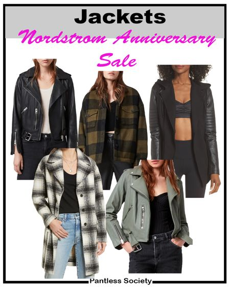 Nordstrom Anniversary Sale. NSale. Nsale 2021. Nordstrom sale. Jackets. Outerwear. Leather jacket. Fall fashion. Fall outfit. Fall jacket. Plaid jacket. Sale. Edgy outerwear. Jackets on sale. Follow me on the LIKetoKNoW.it shopping app for deal alerts and exclusive content.   #LTKtravel #LTKsalealert #LTKstyletip