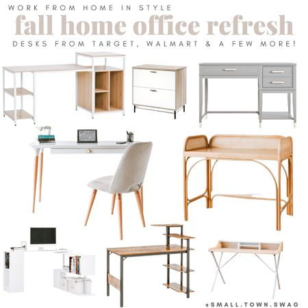 Fall home office refresh!  . . . . . . . Home office // office space // office decor // work from home // target home // Target office // Walmart home // Walmart office // desk // desks // file cabinet // Amazon home // Amazon office // cost plus world market // world market// chair // chairs // desk organization // home Organization // office space // office organization // computer desk // filing // back to school   #LTKworkwear #LTKsalealert #LTKhome