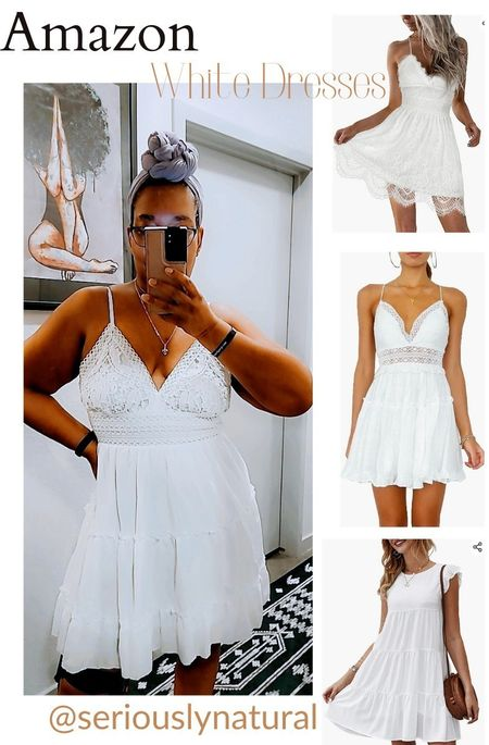 Popular Amazon white mini dresses.  Glad I got one and check out these others.  Follow me in the @LIKEtoKNOW.it shopping app to shop this post and get my exclusive app-only-content!  #liketkit #whitedress #dresses #dress #amazon #amazonstyle #amazonfashion @liketoknow.it