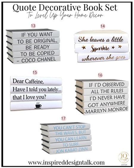 Fashion book quote sets to update your living room home decor. Living room decor, coffee table decor, living room inspiration, coffee table books, amazon fashion, amazon finds, wayfair finds, coffee tables and more!  You can instantly shop my looks by following me on the LIKEtoKNOW.it shopping app   #LTKhome #LTKstyletip #LTKbeauty