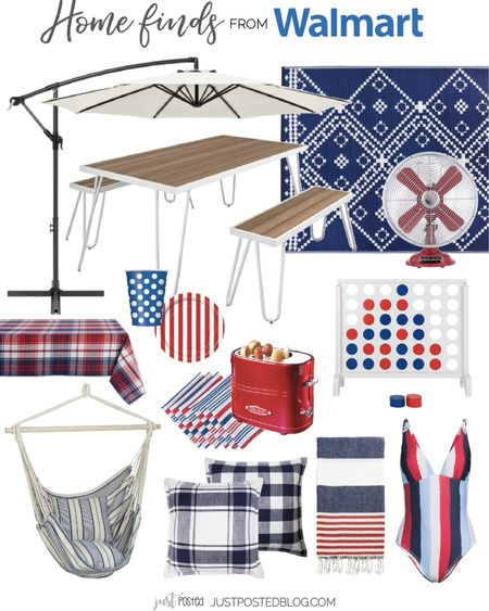 Red, white, and blue home finds from @walmart http://liketk.it/3iP5j #liketkit @liketoknow.it #ad #walmarthome