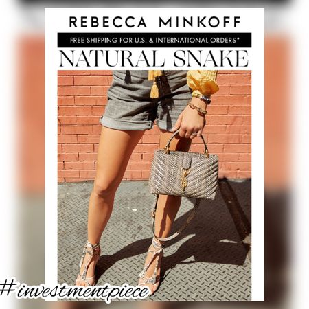 Must have for summer? Snake skin bags and shoes. The new neutral @rebeccaminkoff #investmentpiece   #LTKstyletip #LTKshoecrush #LTKitbag