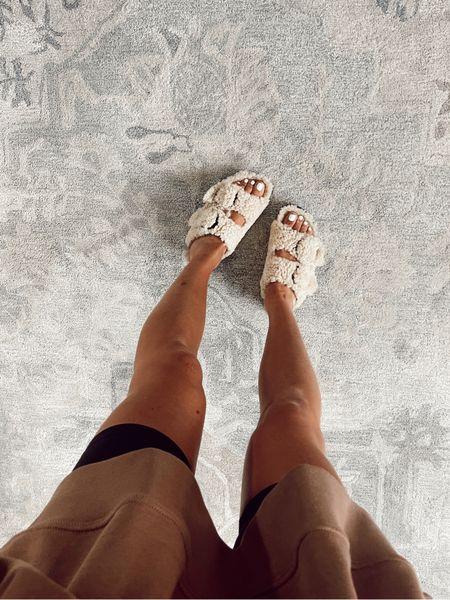 birkenstock shearling sandals  #LTKshoecrush
