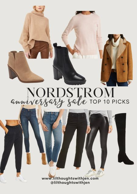 Nordstrom anniversary sale top 10 picks - the perfect time to invest in higher quality pieces to last seasons. My top picks include tops and jackets that have wool and cashmere, shoes that will bring me into winter, and bottoms that I can pair with various tops.   #LTKstyletip #LTKsalealert #LTKshoecrush