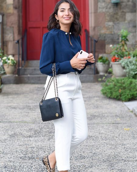 Who says you can't look professional AND be comfy? Julieta's take on workwear comes just in time for the @petitestudionyc sale. Her pants are under $80 right now 😍 Style tip: Julieta says to break up the solid colors with animal print flats and finish with a pretty bag. Workwear inspo ✔️ // Shop this entire look with the LIKEtoKNOW.it app http://liketk.it/2ElO2 #liketkit @liketoknow.it #petitestudionyc #themomedit #themomeditstyle #sponsored