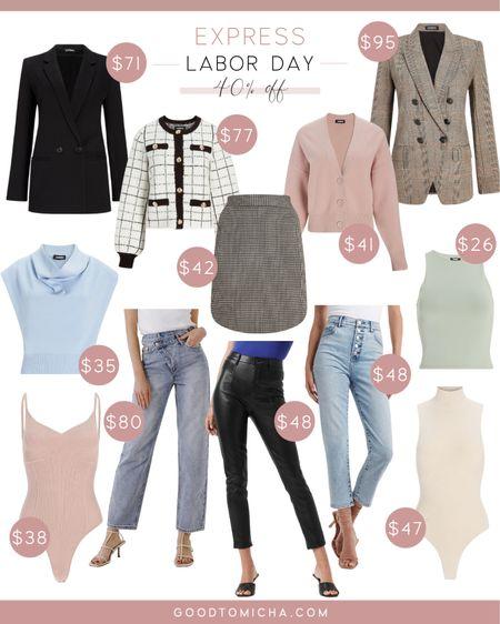 Express Labor Day Sale - blazers, skirts, bodysuits, tops, leather pants, jeans + more!   #LTKsalealert #LTKstyletip #LTKSeasonal