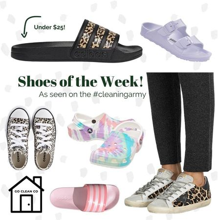 As seen on the #cleaningarmy this week - our fave footwear picks! #gocleanco #bleachpraylove #timeisthenewcurrency #shoeporn  #LTKSeasonal #LTKshoecrush #LTKunder50