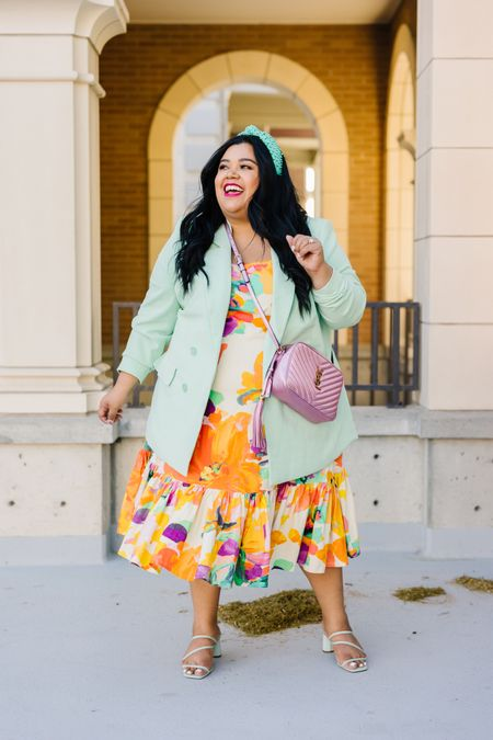 This colorful Anthropologie dress comes in all sizes up to 3X! It's the perfect summer dress and is halter top!   #LTKitbag #LTKsalealert #LTKcurves