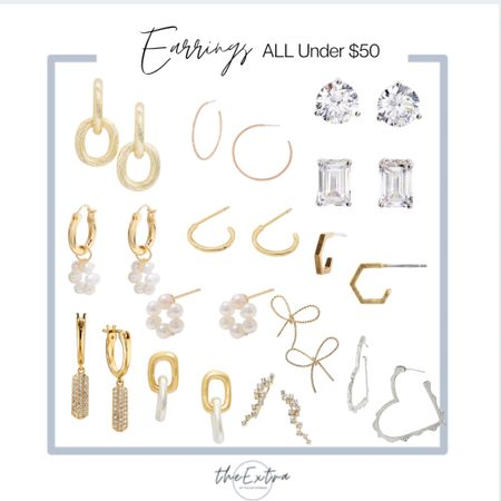 Need earrings for work? ALL of these are under $50 and some for under $15 and $25!!     #LTKunder50 #LTKsalealert #LTKworkwear