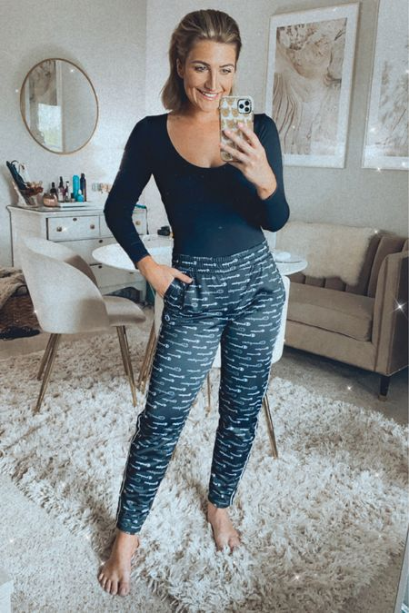 Today's walmart finds! Love these champion track pants and they're on major sale for $17!! Wearing a small. My black long sleeve bodysuit is stretchy, comfortable and amazing for only $18.50. Love these affordable finds! http://liketk.it/2VmAv @liketoknow.it #liketkit #StayHomeWithLTK #LTKunder50 #LTKsalealert