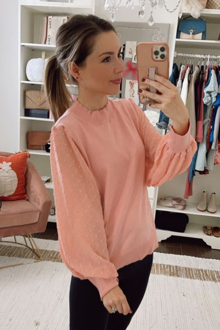 Pink top on sale wearing small
