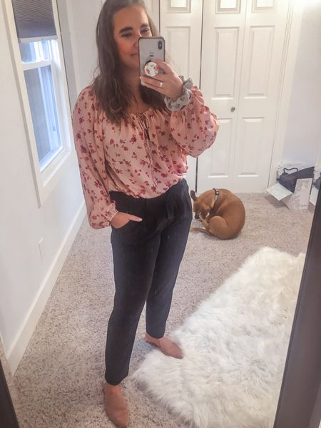 These are my favorite work pants ever. So trendy and chic but also so dang comfy. Like joggers comfy!   #LTKunder100 #LTKSeasonal #LTKworkwear