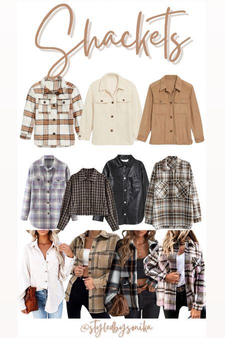 Shackets jackets plaid jacket shacket  #LTKunder50 #LTKGiftGuide #LTKsalealert