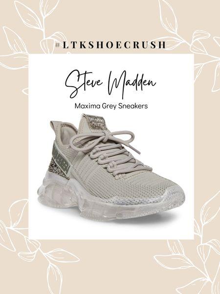 Steve Madden Maxima Grey Multi Sneakers  order half a size up | comes in 11 colors      #LTKfit #LTKshoecrush #LTKunder100