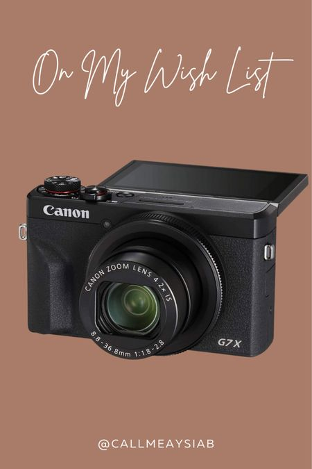 On my wishlist! The Canon Powershot G7x Mark III is everything I need! When I'm out and about and need those quality pictures, I know this will come in handy.   #LTKbacktoschool #LTKsalealert #LTKworkwear