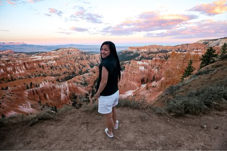 Still one of my favorite pair of sandals paired with the cutest ruffle sleeve top!  Perfect for a leisurely stroll at Bryce Canyon NP.  #LTKstyletip #LTKtravel #LTKsalealert