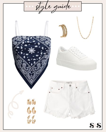 Summer outfit inspo! Perfect for the 4th of July🙌 #fourthofjulyoutfit #4thofjuly #amazon #amazonfashion #amazonfinds #amazonfashionfinds #abercrombie #sneakers #summeroutfits #whitesneakers #target #targetstyle    #LTKstyletip #LTKshoecrush #LTKunder100