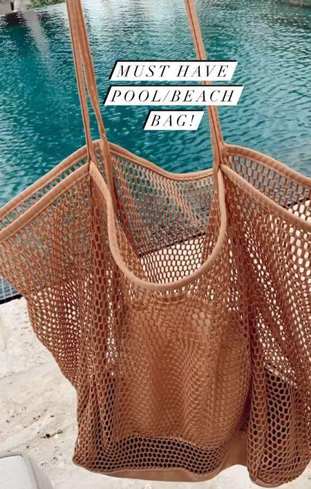 Love this pool/beach bag! Mesh bag lake bag pool bag amazon finds amazon fashion   #LTKstyletip #LTKswim #LTKitbag
