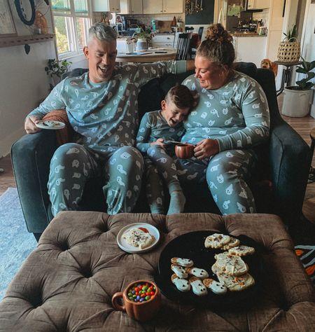 Family boo-vie night to celebrate the beginning of spooky season! Love these cozy family Halloween pajamas!  #LTKHoliday #LTKfamily #LTKhome