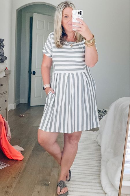 Love this dress from Amazon! Perfect for work or a casual throw on option. Stretchy knit material with pockets. I sized up one size.   #LTKbacktoschool #LTKunder50 #LTKworkwear