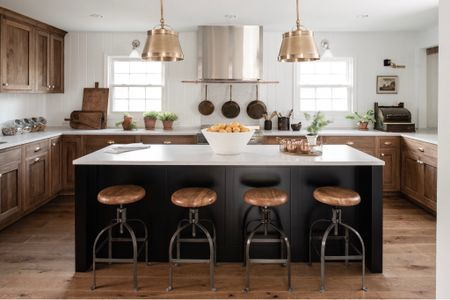 One of my favorite kitchens from our show 🖤 | cabinets are hand-finished white oak | lighting is by circa lighting | white paint is Ben Moore Snow White | countertops are dekton | other sources and similar items are linked | Built by CarrMichael Construction | Photo by Helen Norman http://liketk.it/2BNMq #liketkit @liketoknow.it