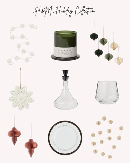 Holiday collection, holiday season, Christmas, decorations, ornaments, candles, plates, decanter, glasses, garland, snowflakes  Follow me for more ideas and sales.   Double tap this post to save it for later    #LTKSeasonal #LTKhome #LTKHoliday