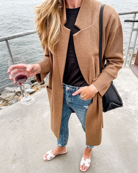 Duster Cardigan, Long Cardigan Sweater, Tan Cardigan, Long Cardigan, Brown Long Cardigan  Sweater blazer is 40% off today! Runs large, size down.