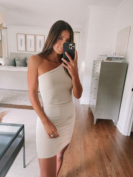 One shoulder dress for date night from Amazon fashion (it's under $20 and medium!)   #LTKstyletip #LTKunder50