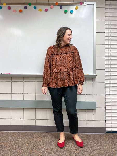 I love the details on this blouse. Add a pair of pants or jeans and you're done! But, a little fun shoe doesn't hurt either!     #LTKstyletip #LTKworkwear #LTKunder50