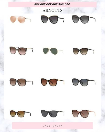 Arnotts have a fab selection of designer sunglasses and they're currently on offer when you buy one pair, you get 30% off the second pair.  #LTKsalealert #LTKeurope