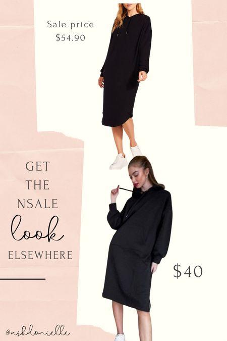 Nsale hoodie midi dress lookalike!   #LTKunder50 #LTKstyletip #LTKsalealert
