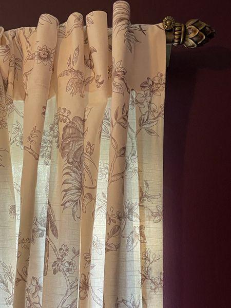 Curtains, rods, curtain rods, vintage style, girl's room, purple bedroom, room inspiration  #LTKhome #LTKunder50 #LTKbaby