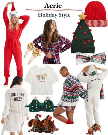 Aerie sale. Christmas outfit. Christmas pajamas. Slippers. Black Friday sales. Gift guide for her. http://liketk.it/3221i #liketkit @liketoknow.it #LTKgiftspo #LTKunder50 #LTKsalealert