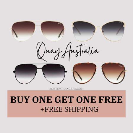 Quay Australia | Buy one get one free sunglasses + free shipping    #LTKsalealert #LTKSeasonal #LTKstyletip